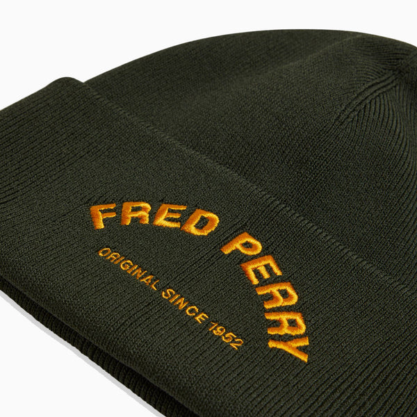 Fred Perry Arch Branded Beanie - Hunting Green