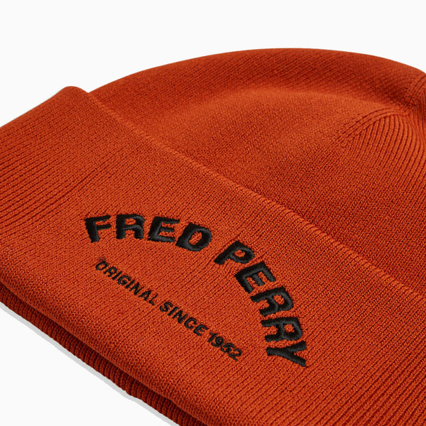 Fred Perry Arch Branded Beanie - Burnt Clay