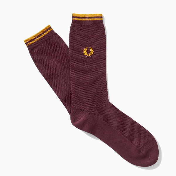 Fred Perry Tipped Socks - Mahogany