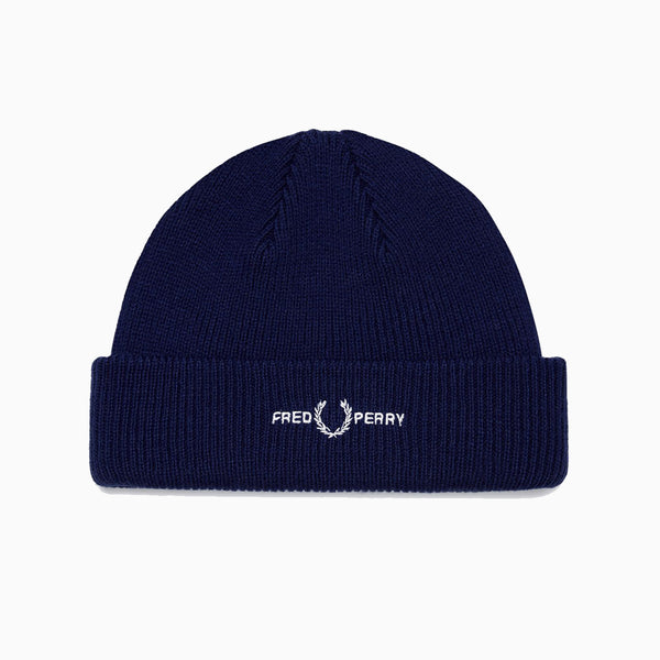 Fred Perry Graphic Branded Beanie - Medieval Blue