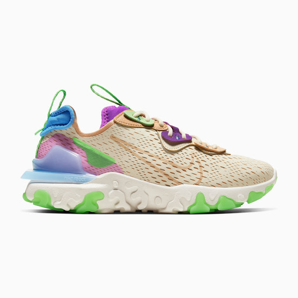 Nike Women's React Vision - Fossil/Vivid Purple/Green Strike/Vachetta Tan