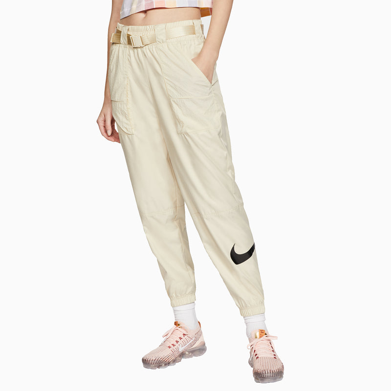 Nike Women's Woven Swoosh Trousers - Fossil/Black