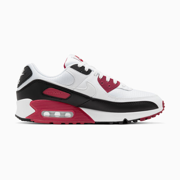 Nike Air Max 90 - White/New Maroon/Black