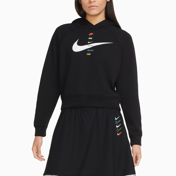 Nike Sportswear Women's Fleece Swoosh Hoodie - Black