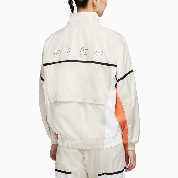Nike Sportswear Women's Woven Jacket - Light Bone/ White/ Healing Orange/ Black