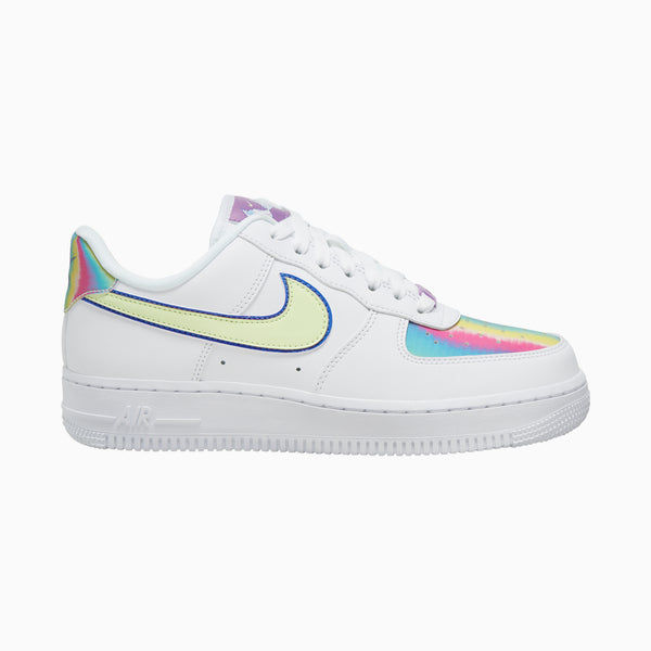 Nike Womens Air Force 1 EAS - White/Blue/Purple/Volt