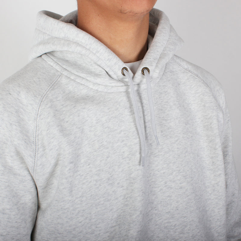 Carhartt Hooded Chase Sweatshirt - Ash Heather/Gold
