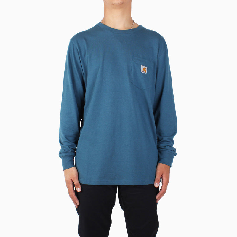 Carhartt L/S Pocket T-Shirt - Prussian Blue