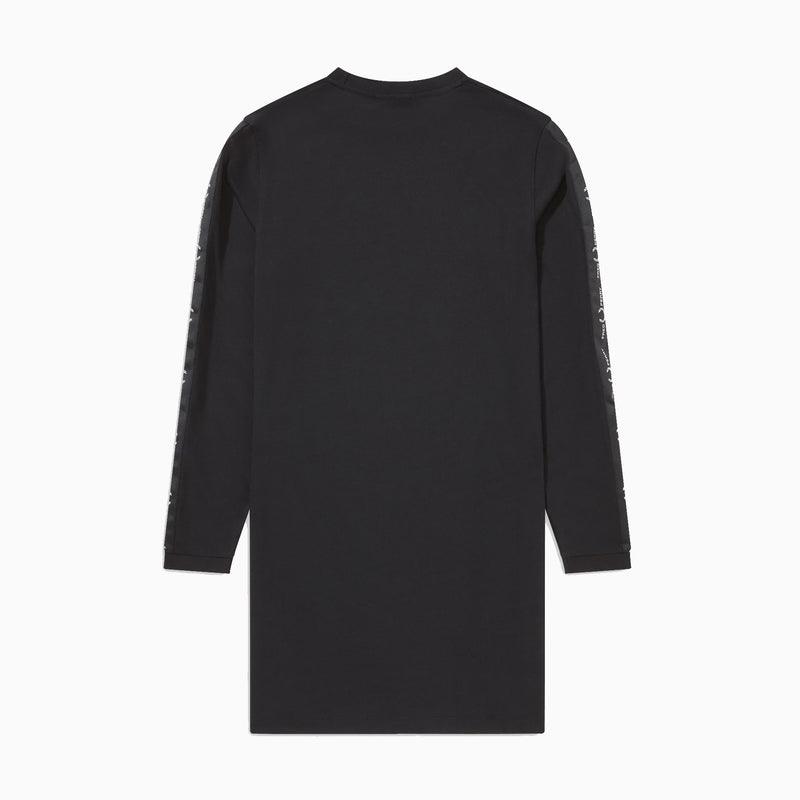 Fred Perry Long Sleeve Taped Dress - Black