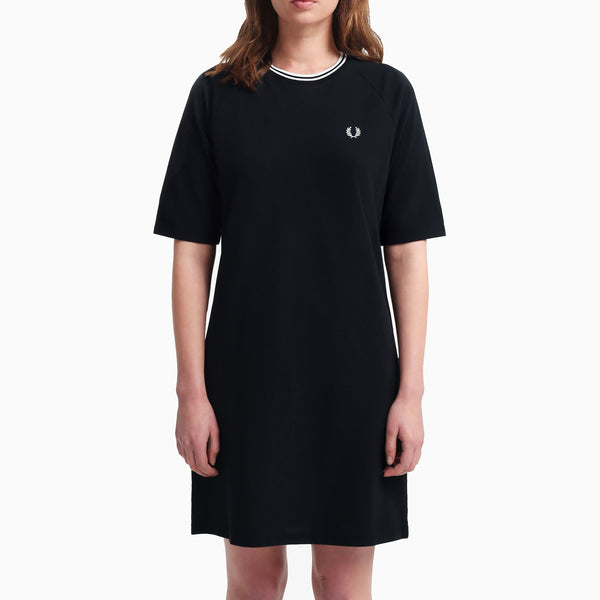 Fred Perry Twin Tipped Pique Dress - Black