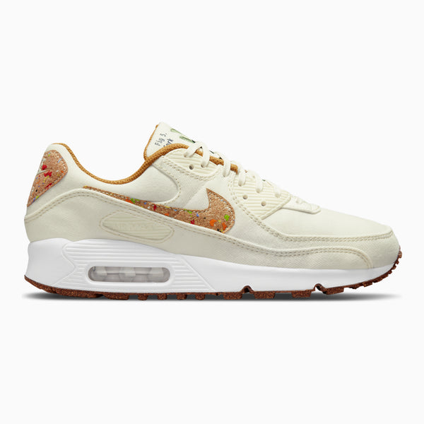 Nike Women's Air Max 90 SE - Sail/Wheat White/Volt