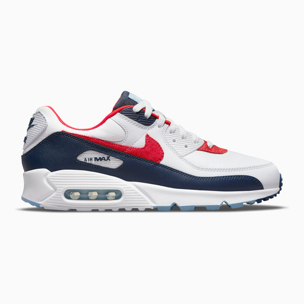 Nike Air Max 90 - White/Chile Red/Midnight Navy