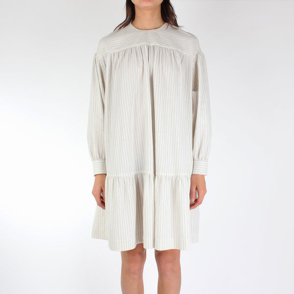 Wood Wood Women's Dina Dress - Off-White Stripes