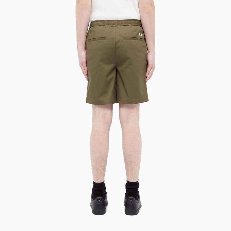 Fred Perry Drawstring Twill Short - Military Green