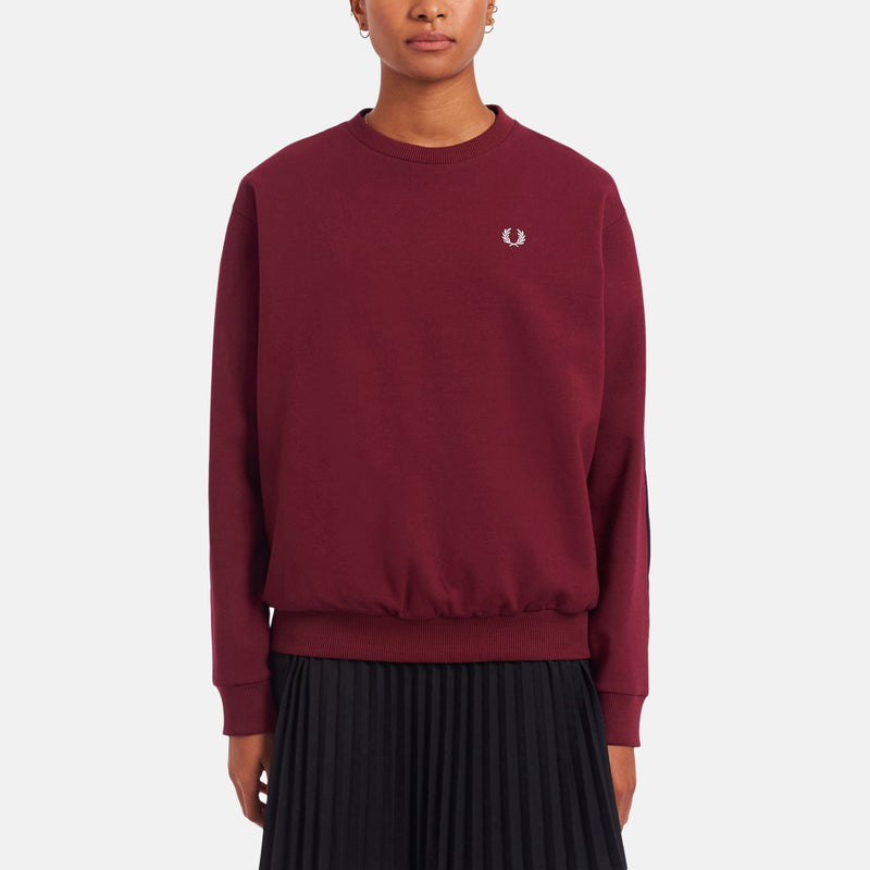 Fred Perry Woven Panel Sweatshirt - Tawny Port