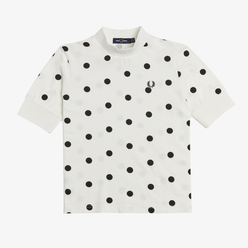 Fred Perry Spot Print Pique T-Shirt - Snow White