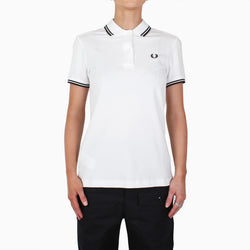 Fred Perry Women's Twin Tipped Polo Shirt - White/Black