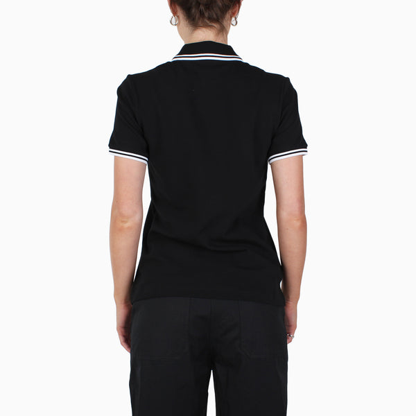 Fred Perry Women's Twin Tipped Polo Shirt - Black/White