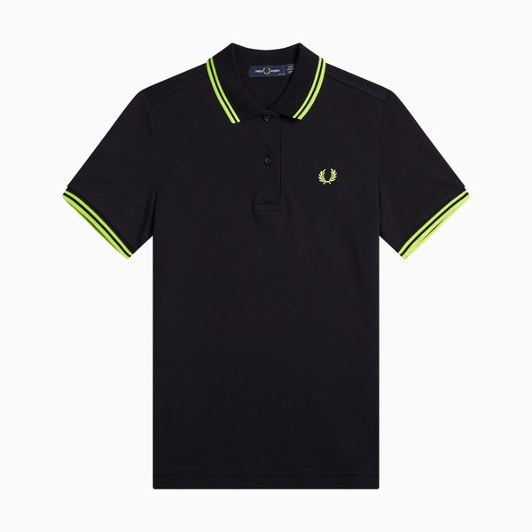 Fred Perry Twin Tipped Fred Perry Shirt - Black/Lime Punch/Lime Punch