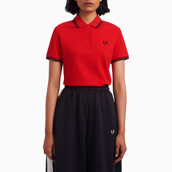 Fred Perry Twin Tipped Fred Perry Shirt - Cherry Bomb/Black/Black