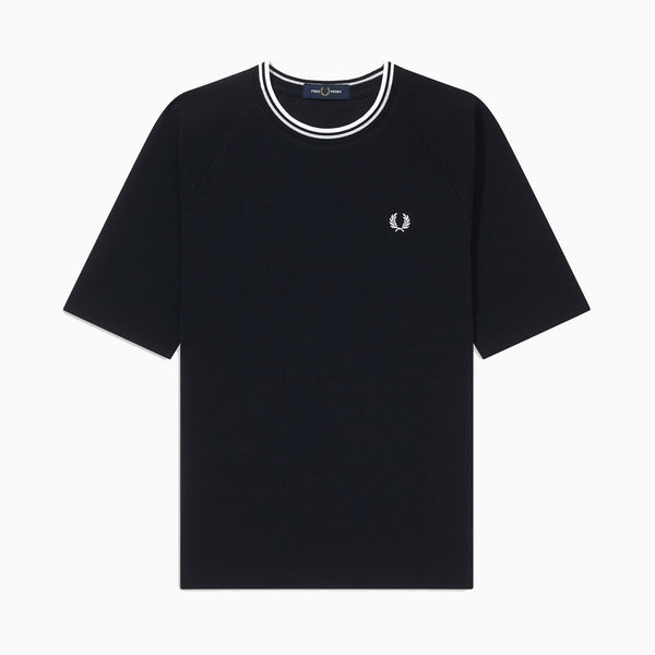 Fred Perry Twin Tipped Pique T-Shirt - Black