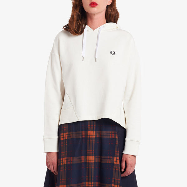 Fred Perry Fishtail Hooded Sweatshirt - Snow White