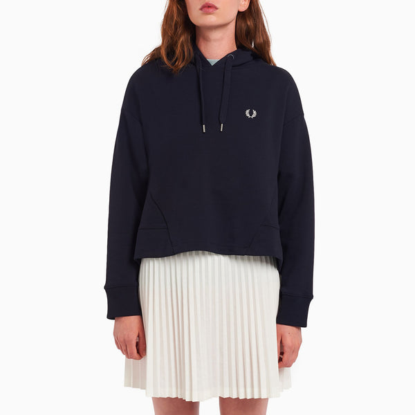 Fred Perry Fishtail Hooded Sweatshirt - Navy