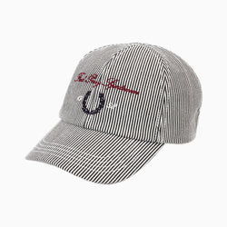 Fred Perry Stripe Archive Branding Cap - Black/White