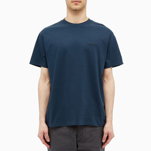 Carhartt S/S Script Embroidery T-Shirt - Admiral/Black