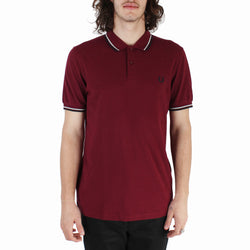 Fred Perry Twin Tipped Fred Perry Shirt - Tawny Port/ Misty Jade/ Navy