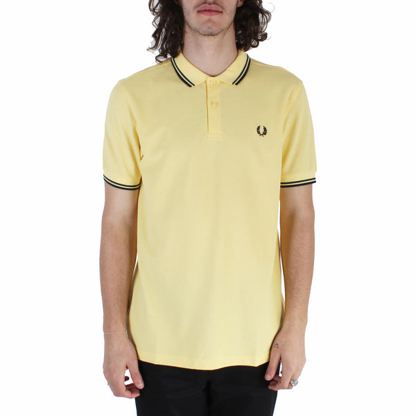 Fred Perry Twin Tipped Fred Perry Shirt - Daffodil/ Petrol Dreams/ Navy