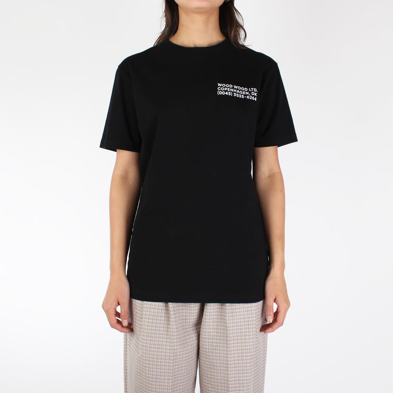 Wood Wood Women's Info T-Shirt - Black