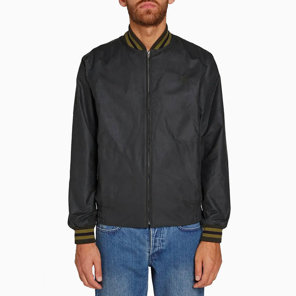 Fred Perry MIE Waxed Harrington Jacket - Hunting Green
