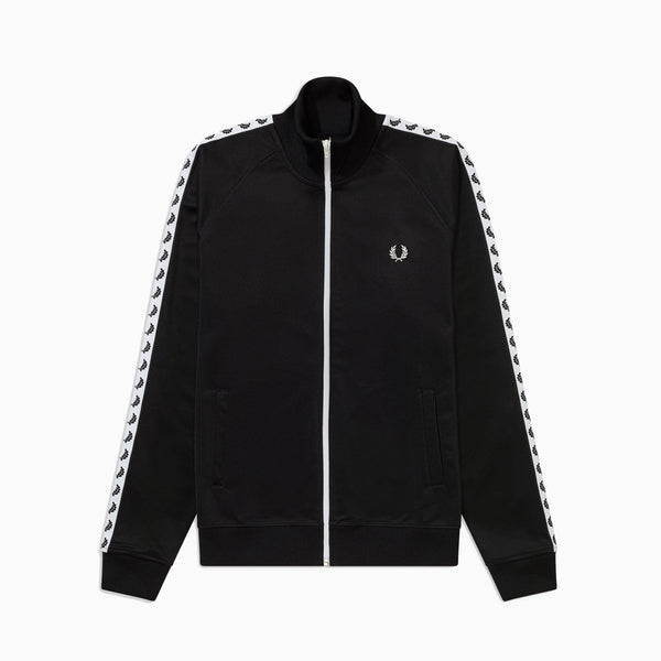 Fred Perry Taped Track Jacket - Black