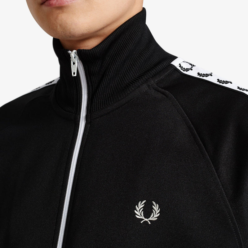 Fred Perry Taped Track Jacket - Black - delete