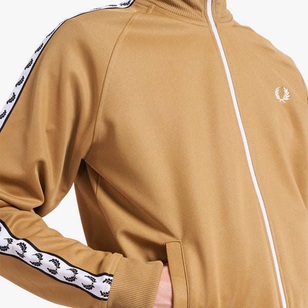 Fred Perry Taped Track Jacket - Warm Stone