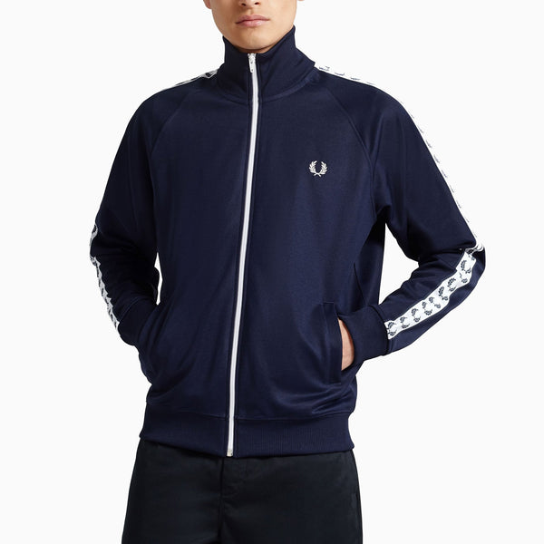 Fred Perry Taped Track Jacket - Carbon Blue