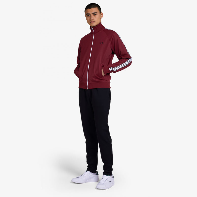 Fred Perry Taped Track Jacket - Tawny Port