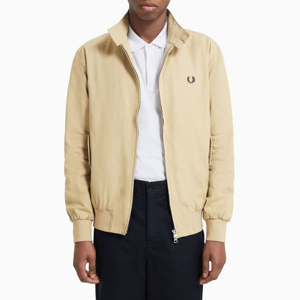 Fred Perry Check Lined Harrington Jacket - Dark Stone