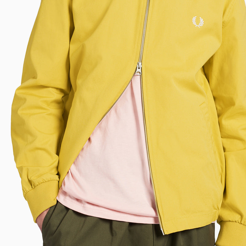 Fred Perry Embroidered Zip-Through Jacket - Dijon Yellow