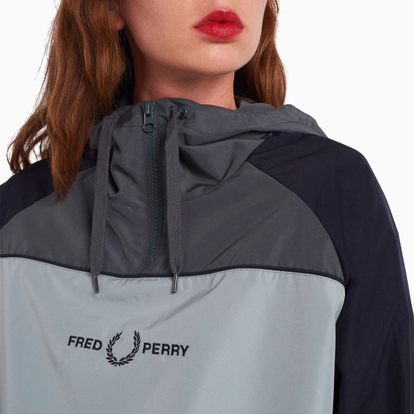 Fred Perry Panelled Overhead Jacket - Slate