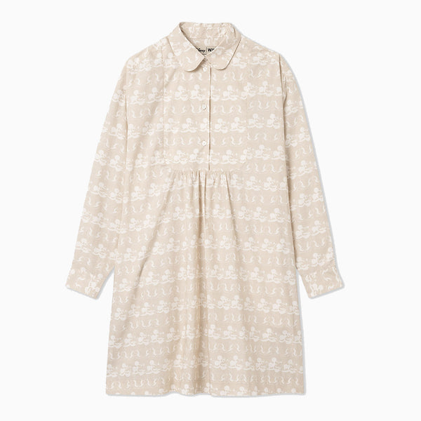 Wood Wood x Disney Janica Dress - Beige AOP