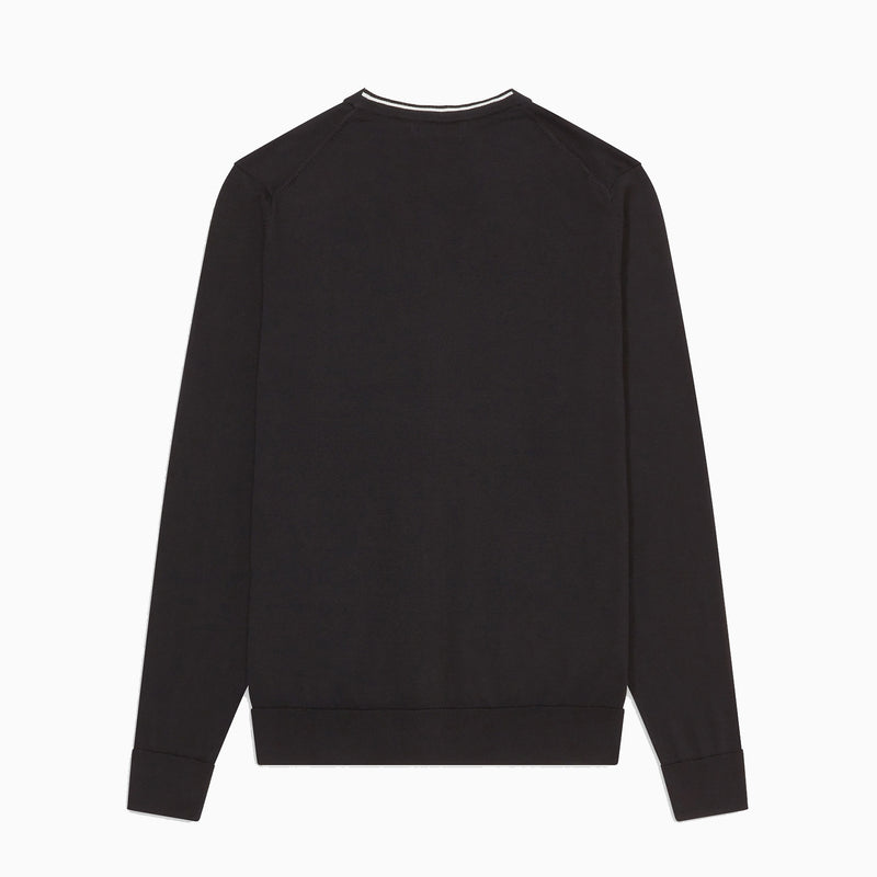 Fred Perry V Neck Cardigan - Black