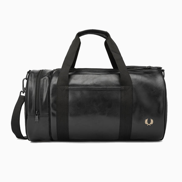 Fred Perry Tonal Barrel Bag - Black