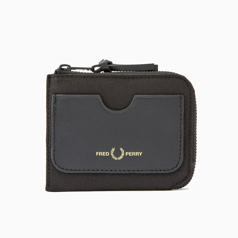 Fred Perry Zip Around Wallet - Black