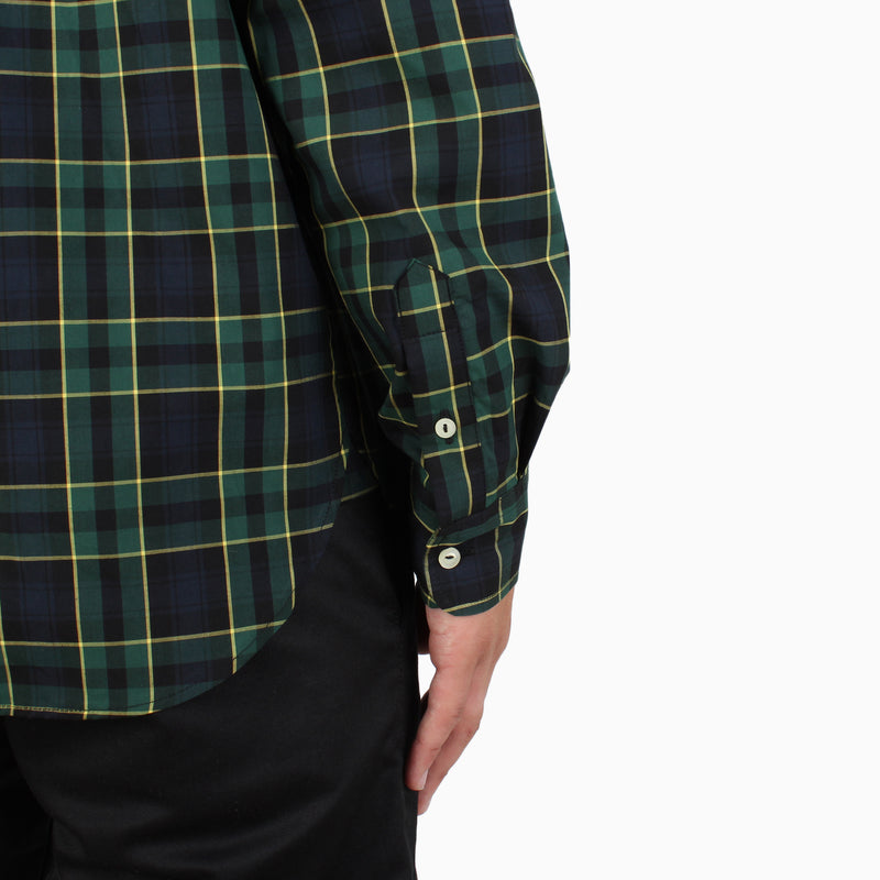 Fred Perry L/S Tartan Shirt - Black