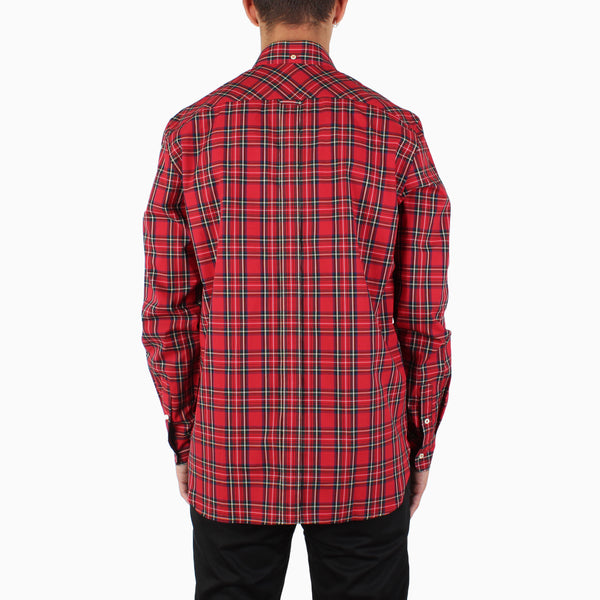 Fred Perry L/S Tartan Shirt - Red