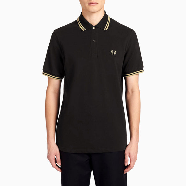 Fred Perry M12 Twin Tipped Shirt - Black/Champagne
