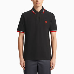 Fred Perry M12 Twin Tipped Shirt - Black/ Red/ White