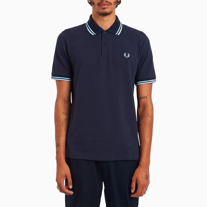 Fred Perry M12 Twin Tipped Shirt - Navy/Ice